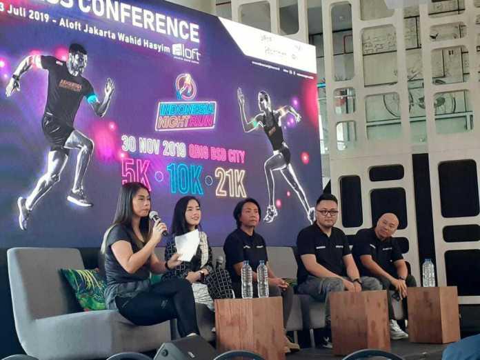 Indonesia Night Run 2019 menghadirkan olahraga berkonsep pesta sehat. (Adt/NYSN)