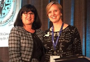 (L) NYS PTA President Gracemarie Rozea and (R) NYS Teacher of the Year Amy Hysert