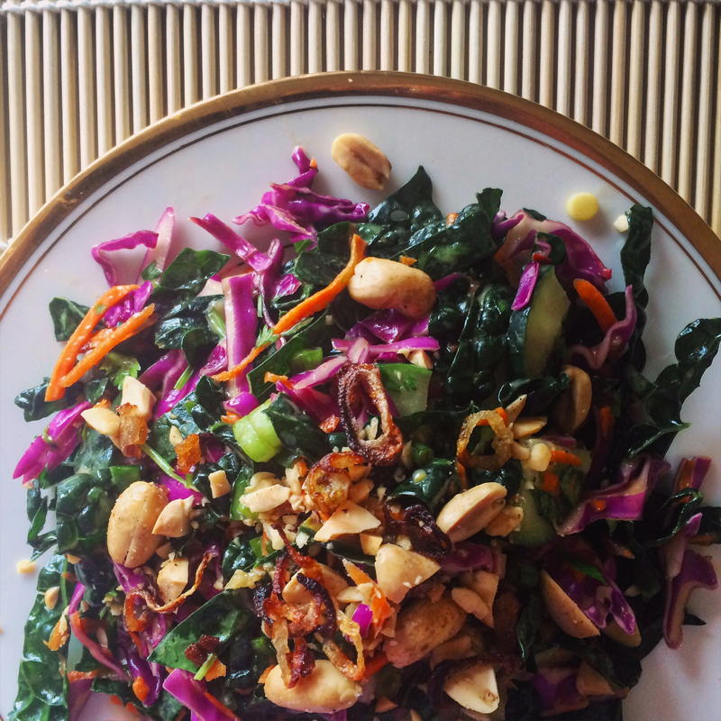 chopped asian kale salad with honey lime dressing | www.nyssaskitchen.com