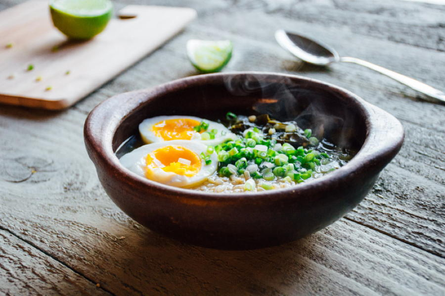 chard and rice soup with a 6 minute egg + lime   www.nyssaskitchen.com