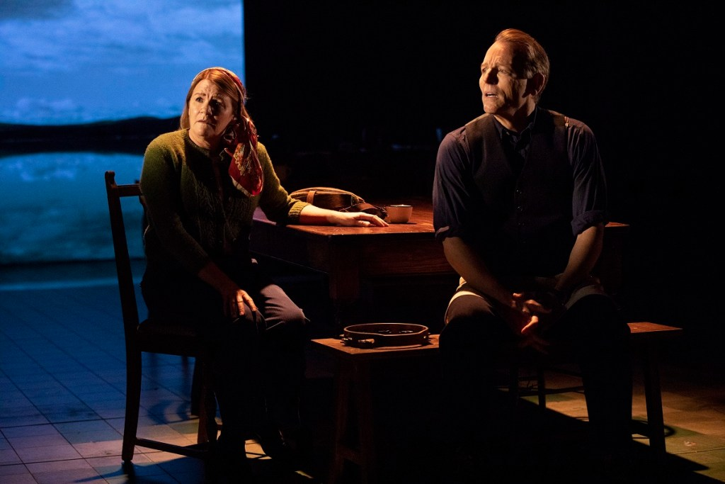 Mare Winningham, left, and Stephen Bogardus in <i>Girl From the North Country.</i>. Photo: Joan Marcus.