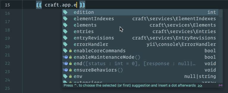 Nystudio107 Auto Complete Craft Cms 3 Apis In Twig With Phpstorm