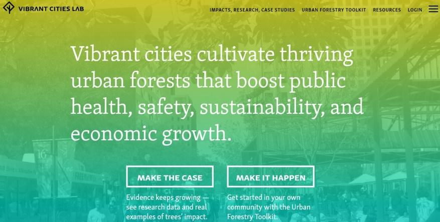 Vibrant cities lab screenshot