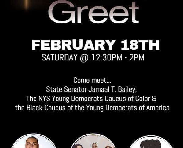 Meet & Greet with State Senator Jamaal T. Bailey