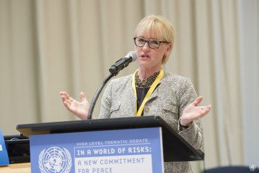 Margot Wallström addresses the UN