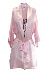 Pink Silk Jaquard Robe