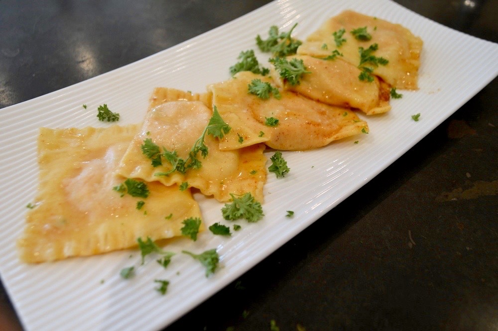 Homemade Pumpkin Ravioli with Brown Butter Sauce