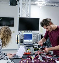 beatrice ionascu an electrical engineering undergraduate student works on a project at the ideas [ 1200 x 800 Pixel ]