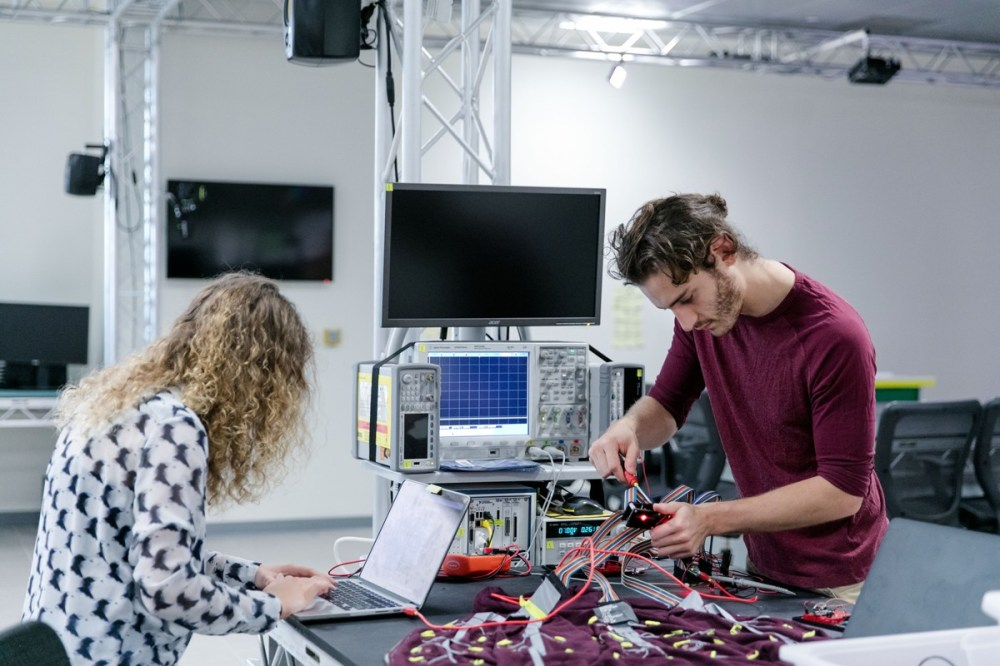 medium resolution of beatrice ionascu an electrical engineering undergraduate student works on a project at the ideas