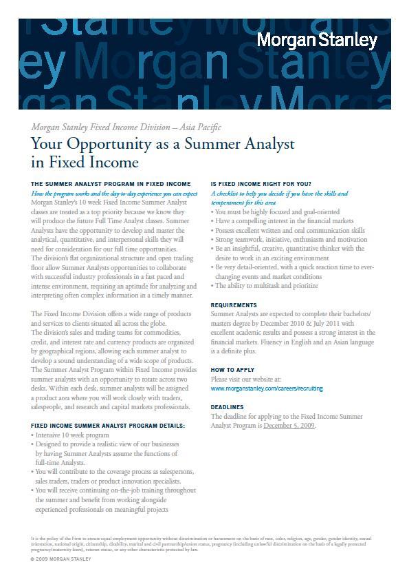 Investment Banking Internship Jp Morgan Summer Analyst