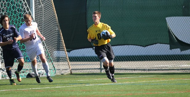 Sophomore keeper Lucas Doucette stopped a season-high 11 shots on Wednesday.