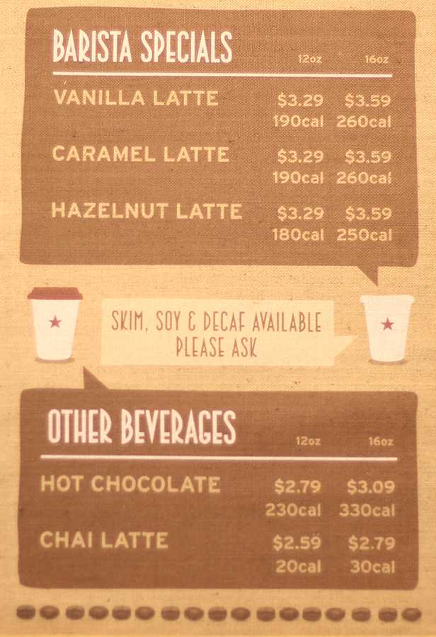 Chains like Pret A Manger will be required to show calorie counts for all their menu items.