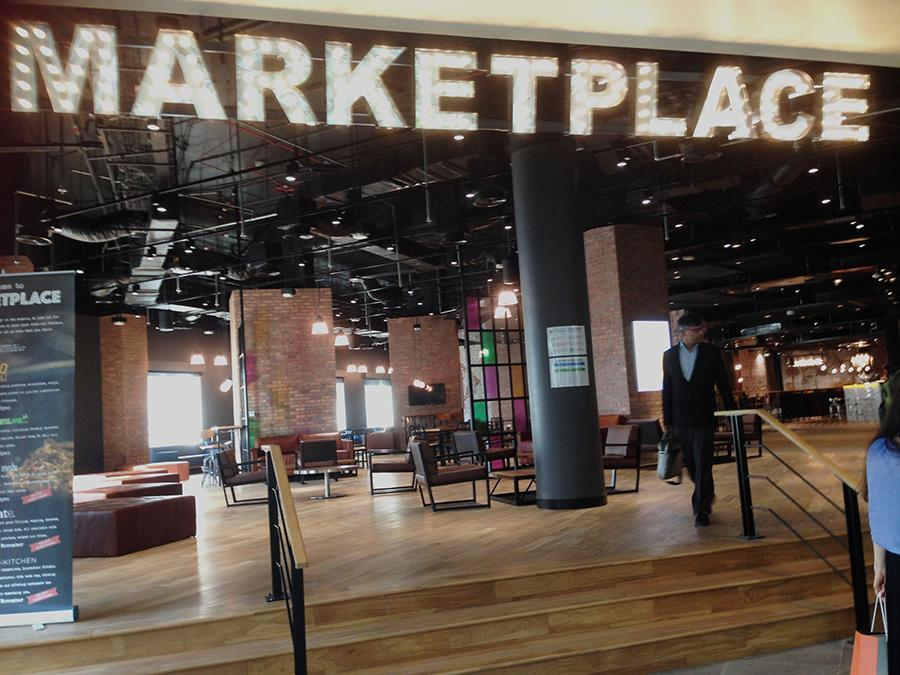 The Marketplace dining hall located on the highline level of the NYU Abu Dhabi Campus Center.