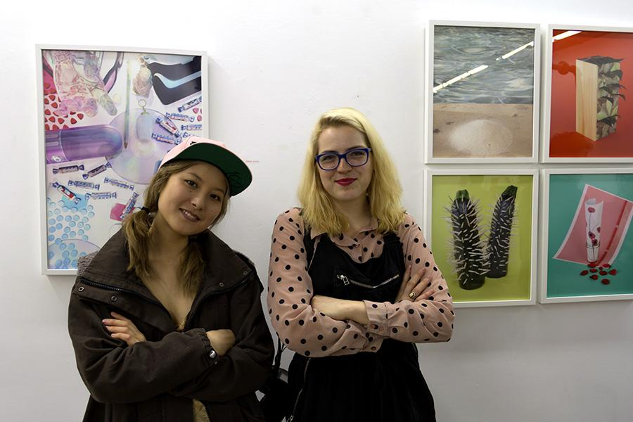 Emily Jampel, left, and Sophie Epstein hosted HELLOWORLD, a gallery showcasing the work of artists under 25. Jampel and Epstein will release their book, White Rabbit, on Thursday.