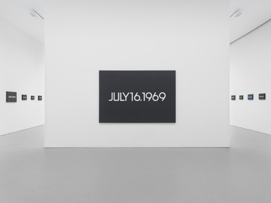 """On Kawara's """"July 16, 1969"""" represents the day of the Apollo 11 launch."""