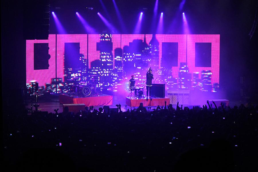 American music duo, 21 Pilots perform their unique alt-pop punk and indie rock music style.
