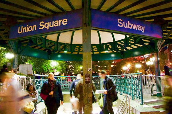Union Square station, a transportation hub for hundreds of university students and intersection of seven train lines, teems with commuters at all hours.