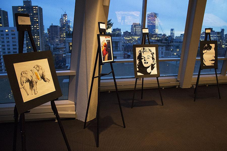The Pop Up Gallery, one of the flagship events for the NYU World Tour, features an assortment of artwork created by the NYU community.
