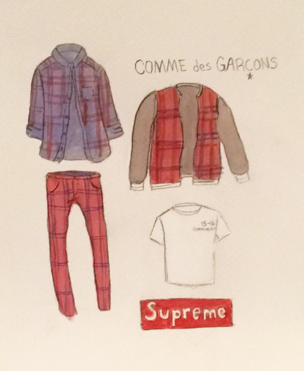 Classic plaids are prevalent in the latest capsule collection by collaborative favorites Supreme and Comme des Garçons.