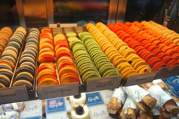 Come enjoy delicious macaroons at the Lafayette Grand Café & Bakery at 380 Lafayette Street.