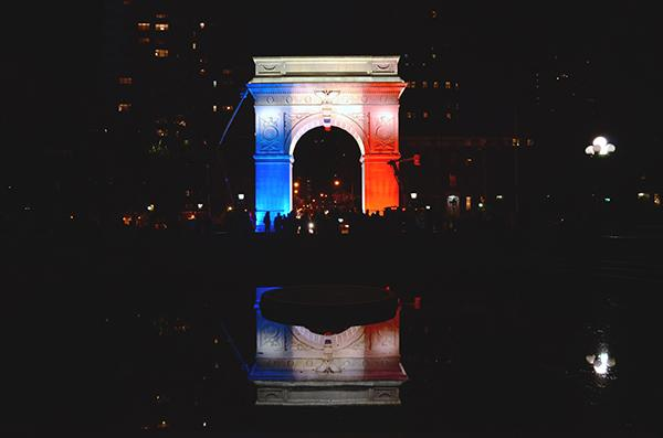 The Washington Square Arch was lit up to mirror the flag of Paris following last year's attacks on the Charlie Hebdo headquarters. A new HBO documentary looks back on the tragic days.