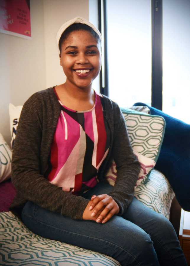 Tamera Davis (Gallatin '19), member of NYU Project Outreach, volunteer at Strive for College, and one of many on campus who enjoys giving back to the community, says she is thankful for the opportunities offered by a prestigious university.