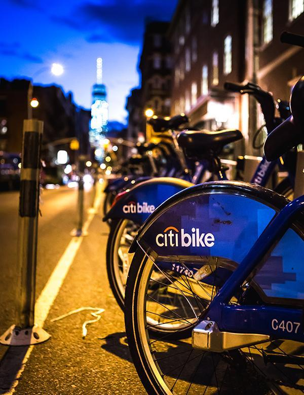 The Citi Bikes situated all over the NYU campus are a relatively cheap and convenient way for NYU students to get around NYU and NYC.