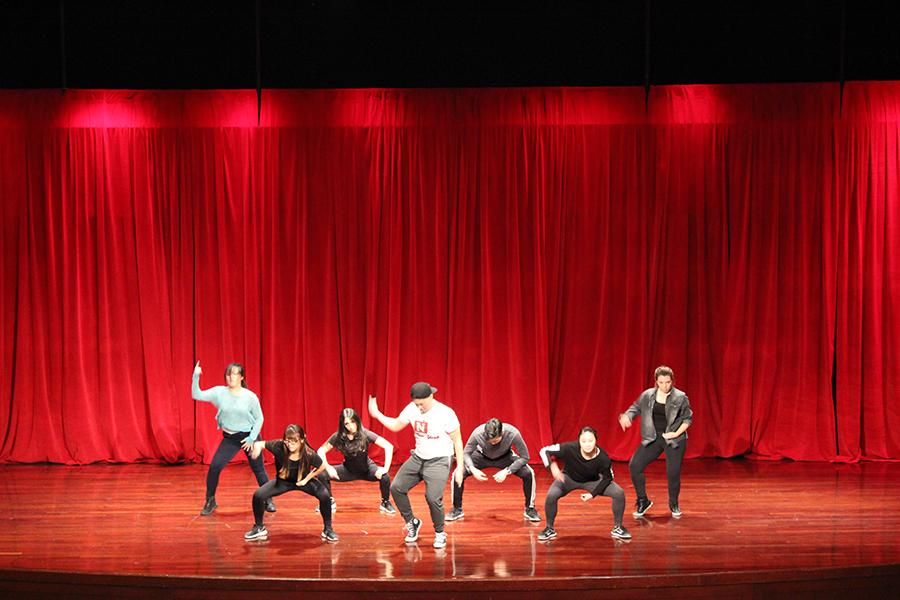 """NYU students took to the stage to compete in the 2016 Spring Welcome week's """"So You Think You NYU Can Dance"""" competition."""