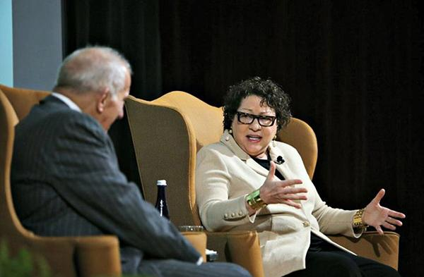 The NYU Law School hosted a conversation with Supreme Justice Sonia Sotomayor on February 8.