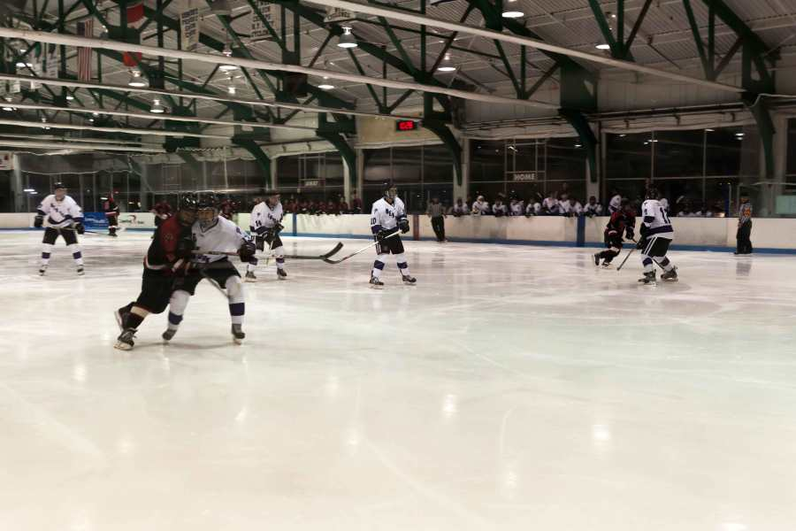 The hockey team had their last game of the regular season against the University of New Hampshire.