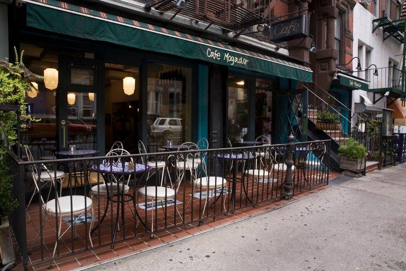 Café Mogador is one of the many cheap and affordable restaurants which allow for large groups of people to dine at.
