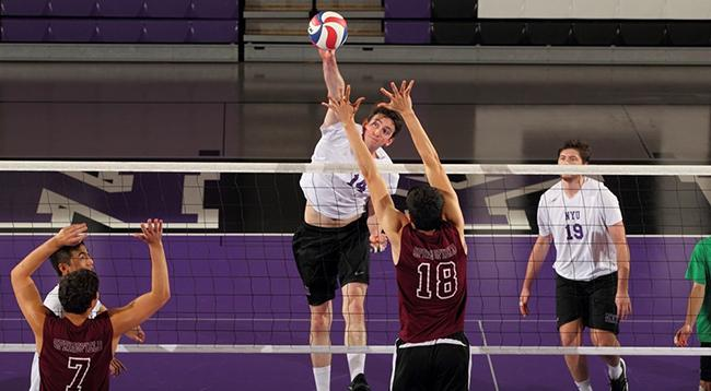 Sophomore Chase Corbett finished the game last night with a career high of 12 kills.