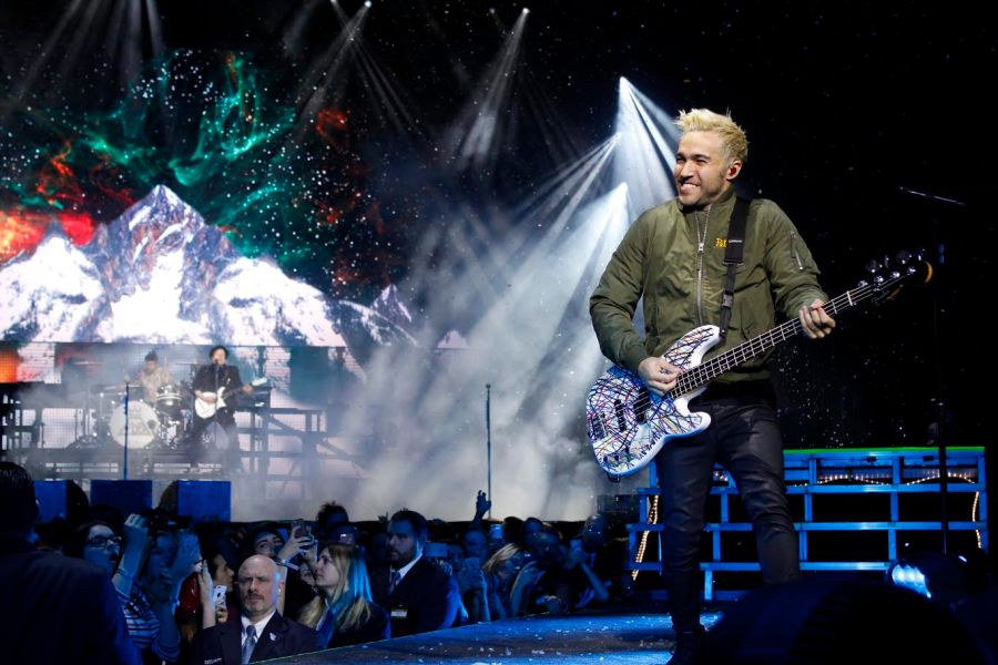 Fall Out Boy's bassist Pete Wentz, took the stage with the rest of the band at Madison Square Garden with PVRIS.