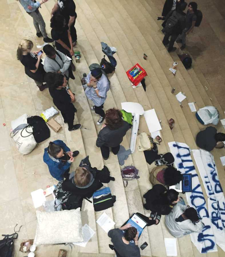 For 36 hours, students from the IEC occupied the Kimmel lobby to #banthebox from the Common Application.