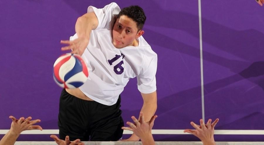 Senior Phil Bueno led the men's volleyball team against Steven's Tech.