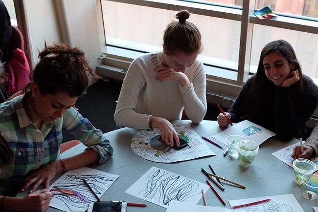 TEDxNYU hosted a Color Party to relieve some stress with art therapy.