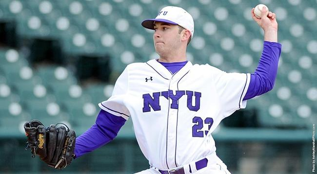 Sophomore Chase Denison pitches a complete game shutout, the first in NYU DIII history.