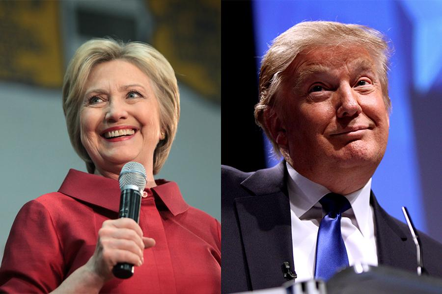 Hillary Clinton and Donald Trump face off in the first presidential debate, located at Hofstra University.