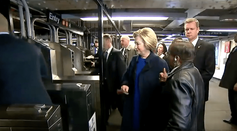 Hilary Clinton's metrocard incident was one of the many funny moments political candidates have had in New York.