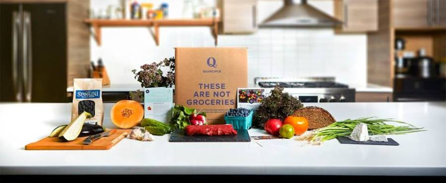 Quinciple is a grocery delivery service currently available in lower Manhattan.