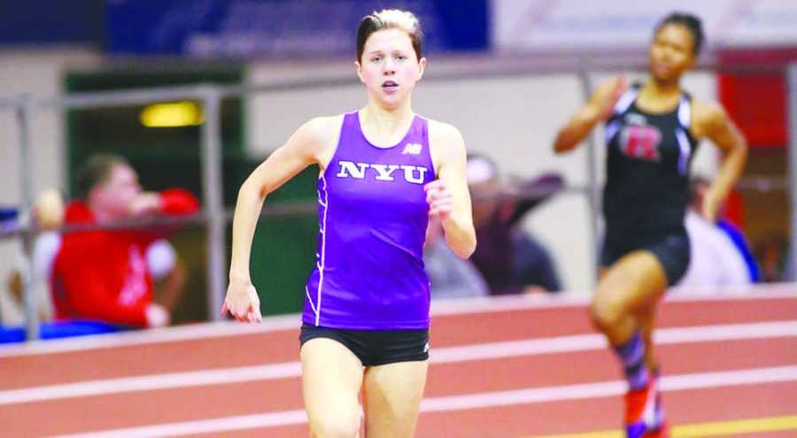 Freshman Mary Conti finished in third place for the 400m.