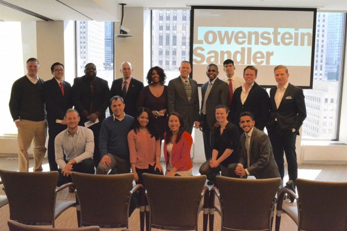 The second graduating class of the Veteran Entrepreneur Training program along with faculty members.