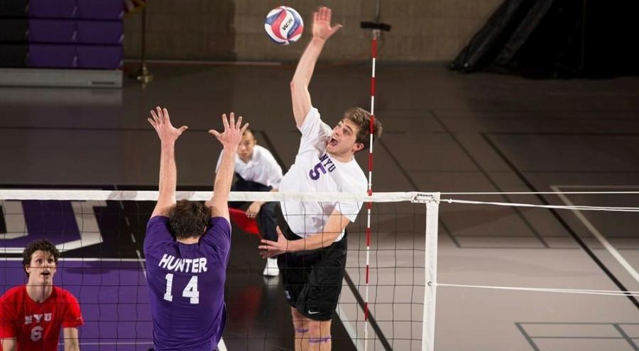 Chase Klein played well despite the NYU Volleyball Team's loss against Vassar College.