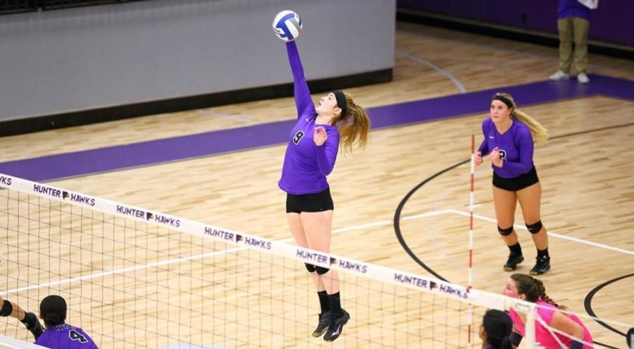Today, the women's volleyball team won 3 to 0 against St. Joseph's College in Long Island.
