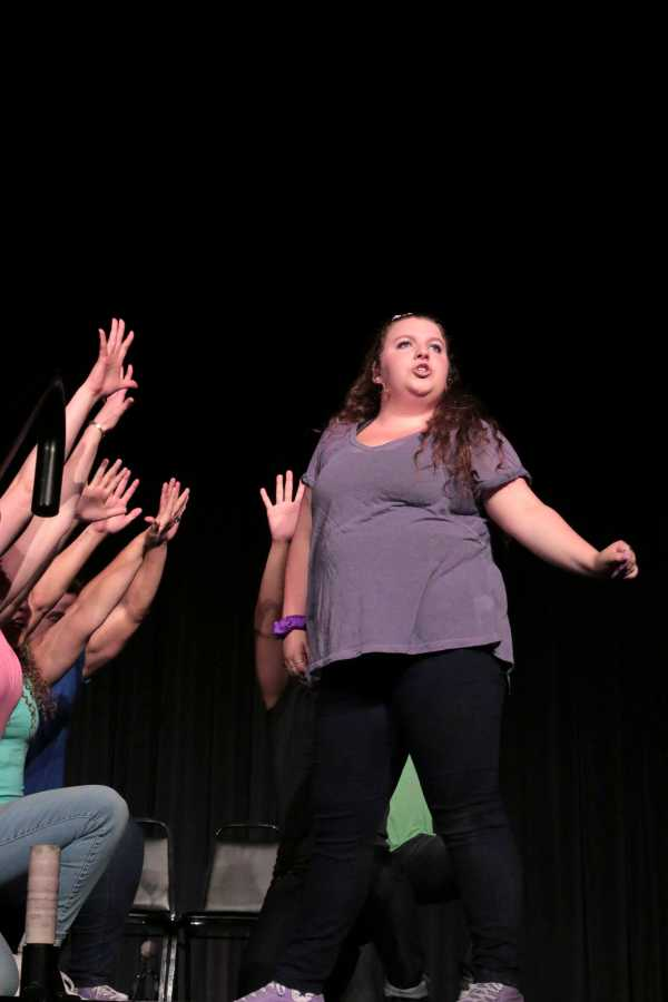 Gallatin junior Casey Whyland performing in the Reality Show during the Presidential Welcome for the Class of 2020.