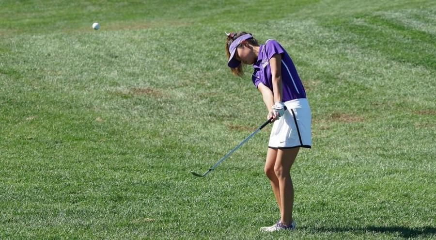 With 56 people competing, junior Alyssa Poentis led all golfers at the NYU Invitational with a score of 77.