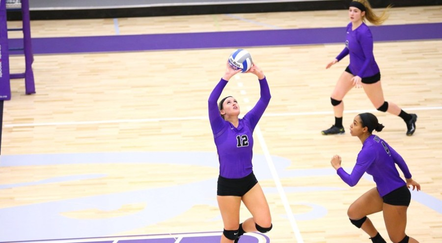 In their victory against Brandeis, sophomore Katie Goethe supported the team with 39 assists.