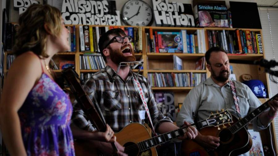 The Decemberists perform a Tiny Desk Concert at the NPR Music offices.