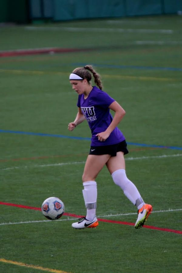 Freshman soccer player Maddie Howard describes the difficulty associated with playing on a college sports team while also trying to manage and navigate the other more traditional struggles of adjusting to school.