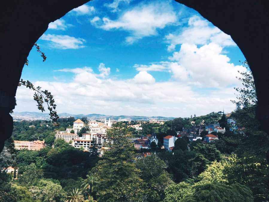 The village of Sintra, Portugal, from one of the castles there.